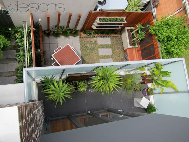 DIY Internal Courtyard with LICOM76 ™ VWall Planter Boxes - H2O Designs