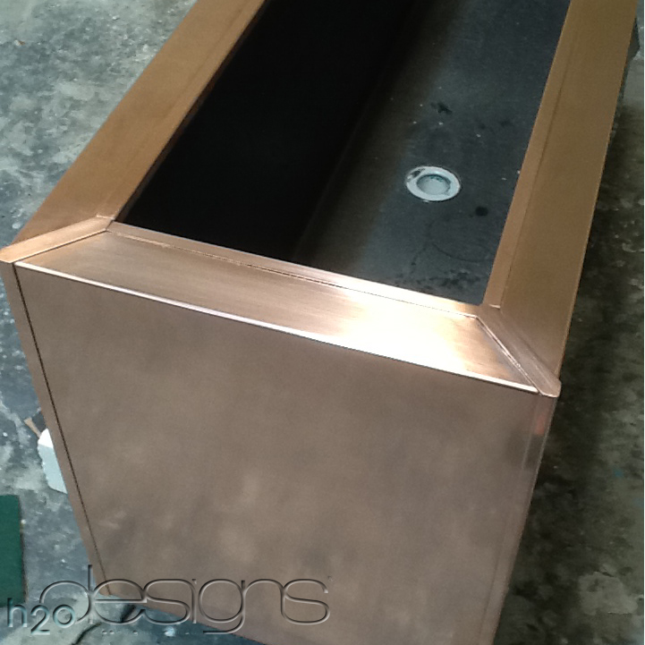 h2o designs copper clad planter box