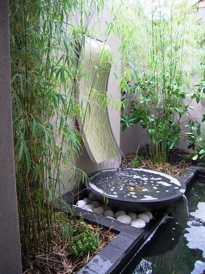 h2o designs Compact Water Feature with LICOM76, lighweight concrete