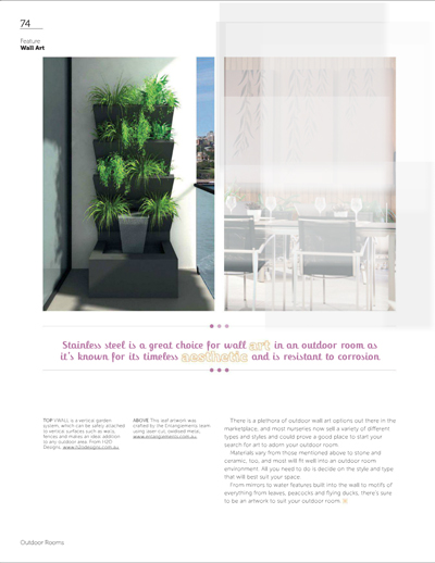 h2o designs V3 VWall Vertical Planter Box System in Outdoor Rooms #18